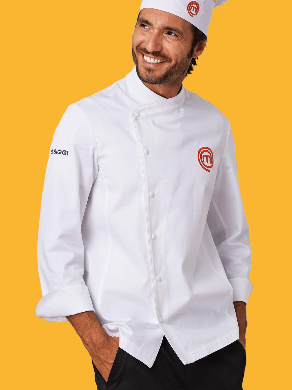 Giacca cuoco masterchef siggi personalizzabili da lavoro prezzi e offerte - Abbigliamento da cucina ...
