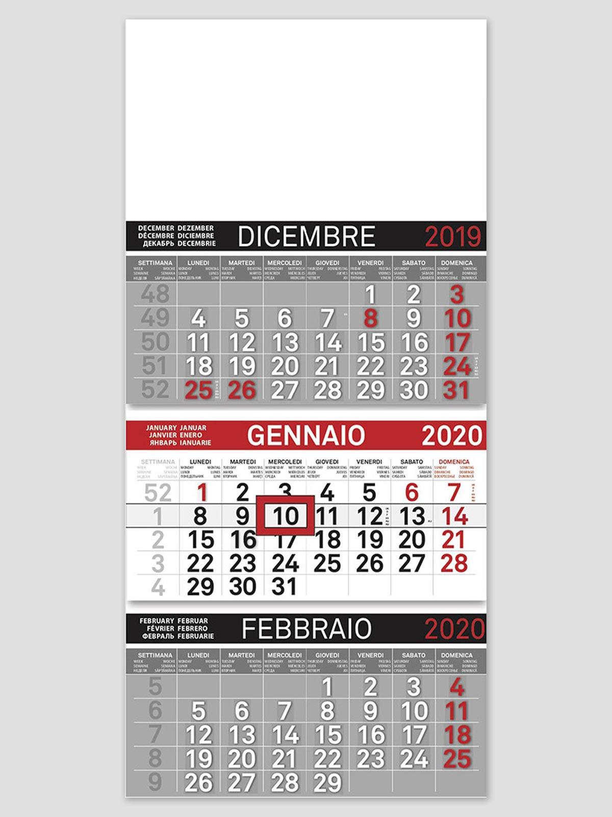 Calendario Parete.Calendario Da Parete Trittico Olandese Art 810 Cm 32x69