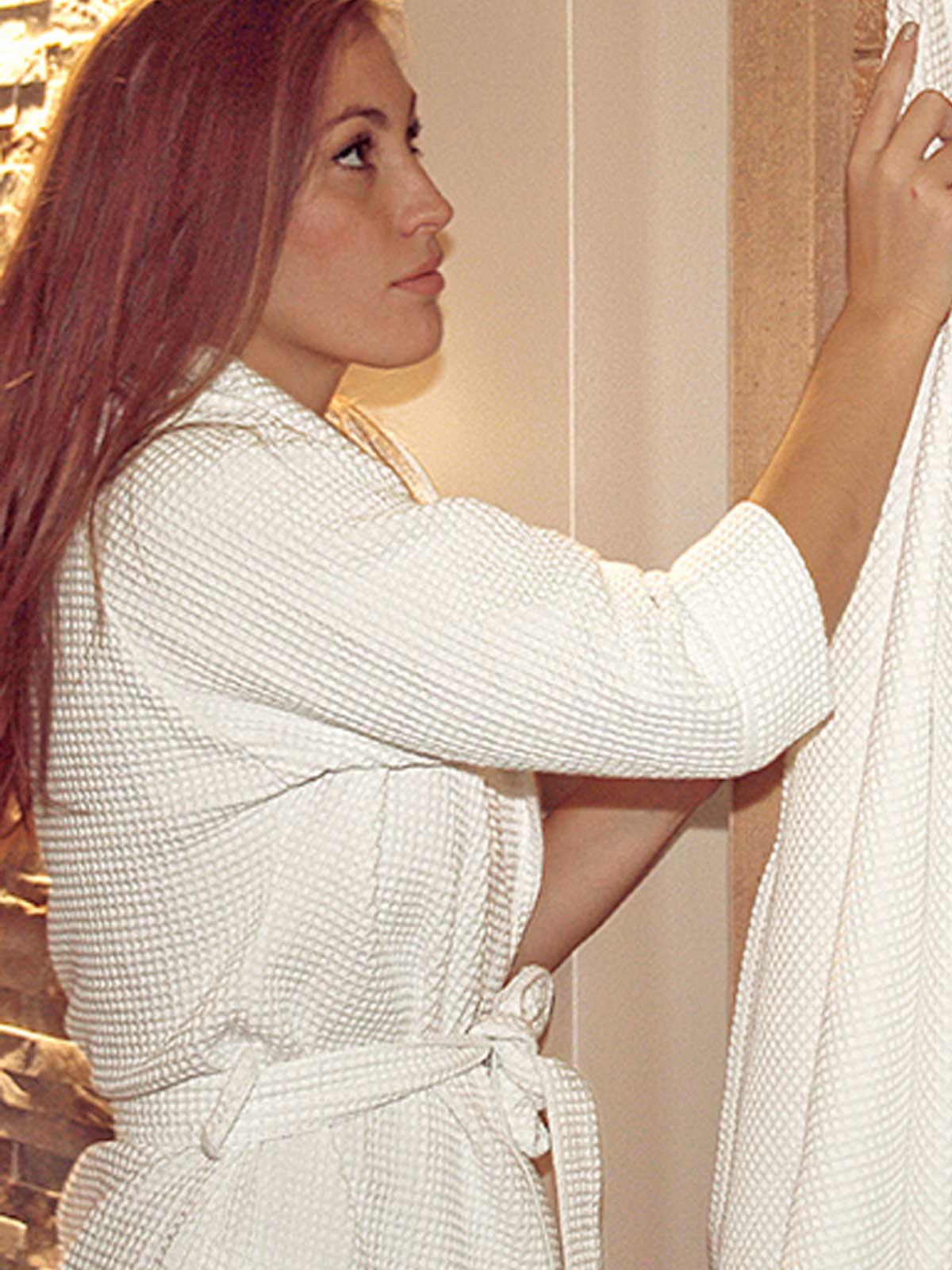 Accappatoio donna waffle towel beardream personalizzabili for Decorazione waffel