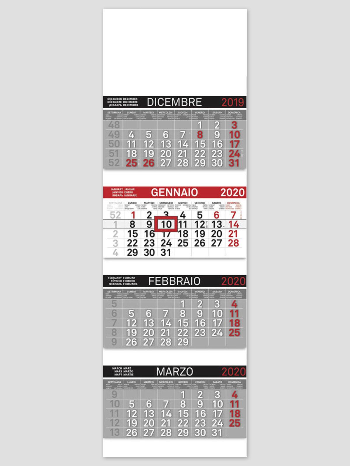 Calendario Parete.Calendario Da Parete Quadrico Art 807 Cm 32x100