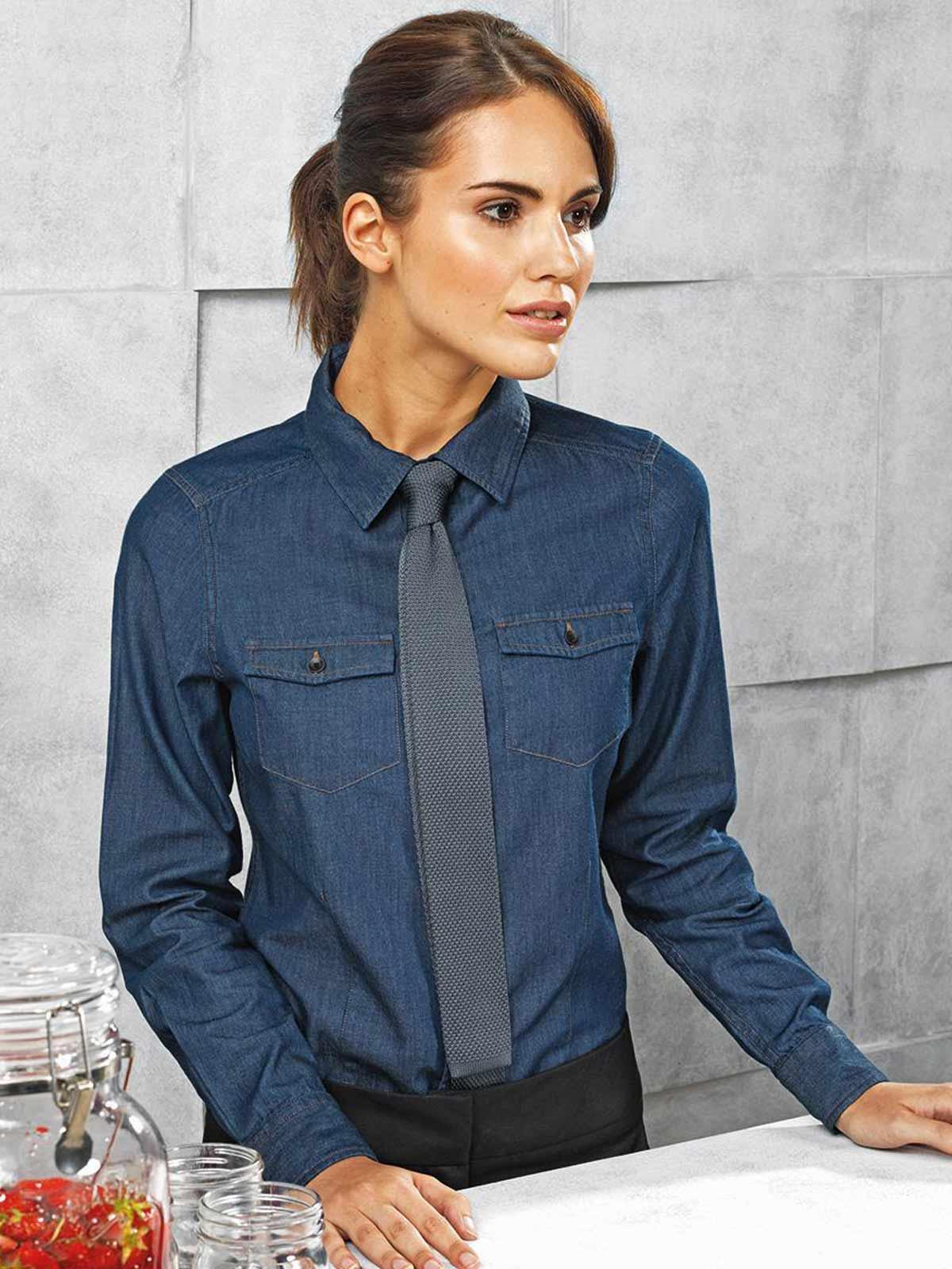 timeless design 1c3c1 8f685 Camicia donna m/l jeans PR322 Premier personalizzabili, da ...