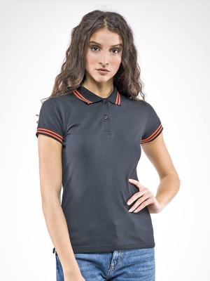 Polo donna m/c Sissi Black Line Myday