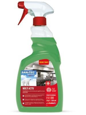 Disinfettante pronto all'uso per superfici ad uso ambientale Multiactive 750 ml Sanitec